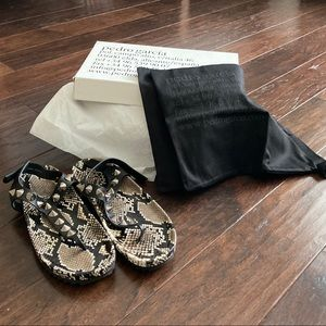 NWT Pedro Garcia Athena Studded Thong Sandals